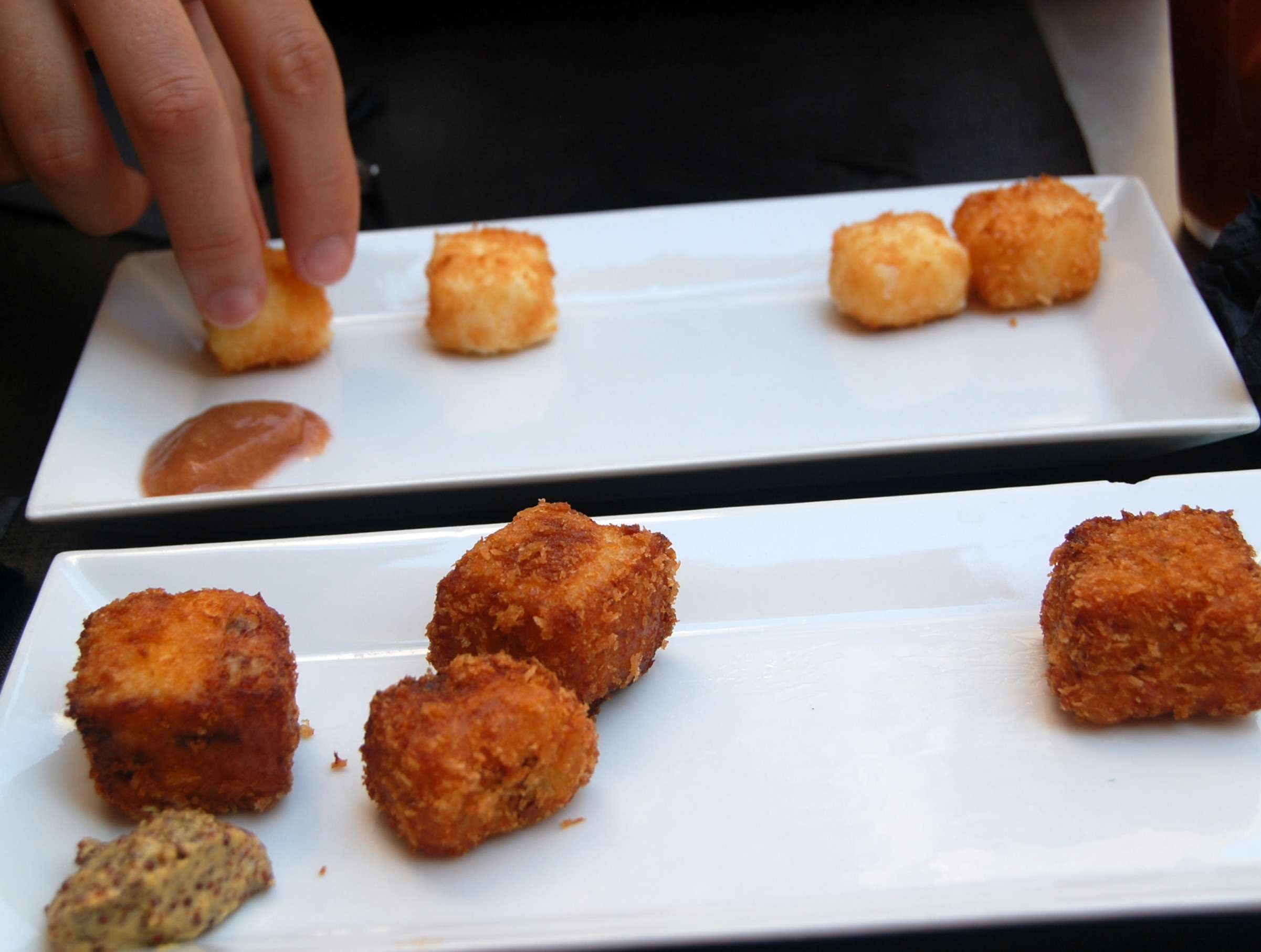 Croquettes from Bubo, Barcelona