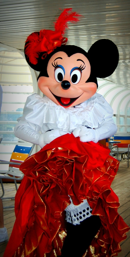 Minnie Mouse onboard the Disney Magic