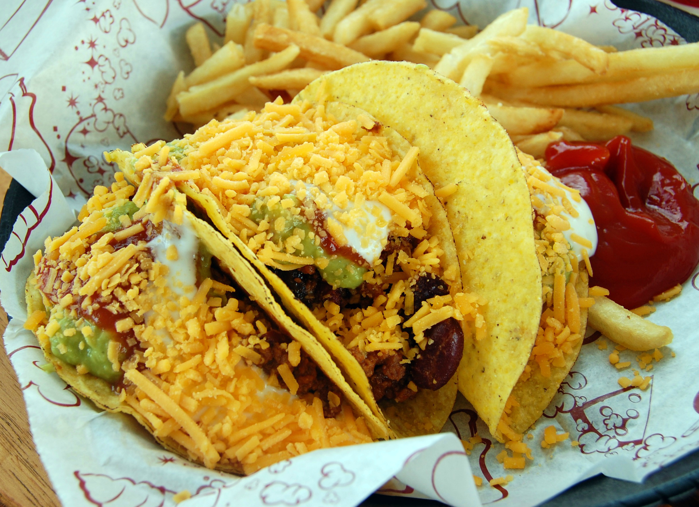 Tacos aboard the Disney Magic