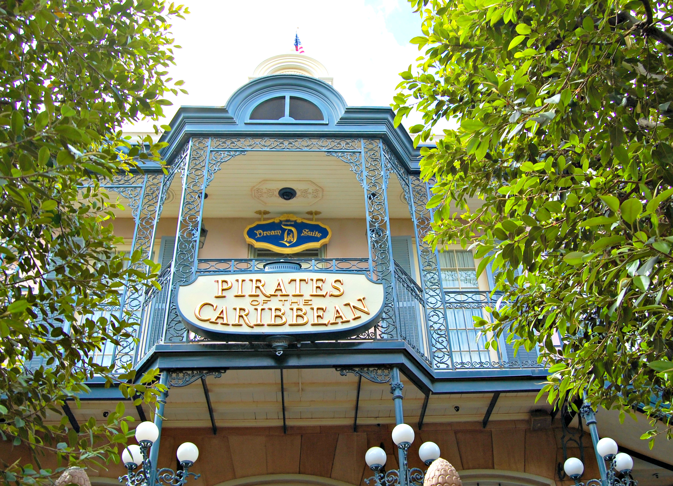Disneyland's entrance to Pirates of the Caribbean