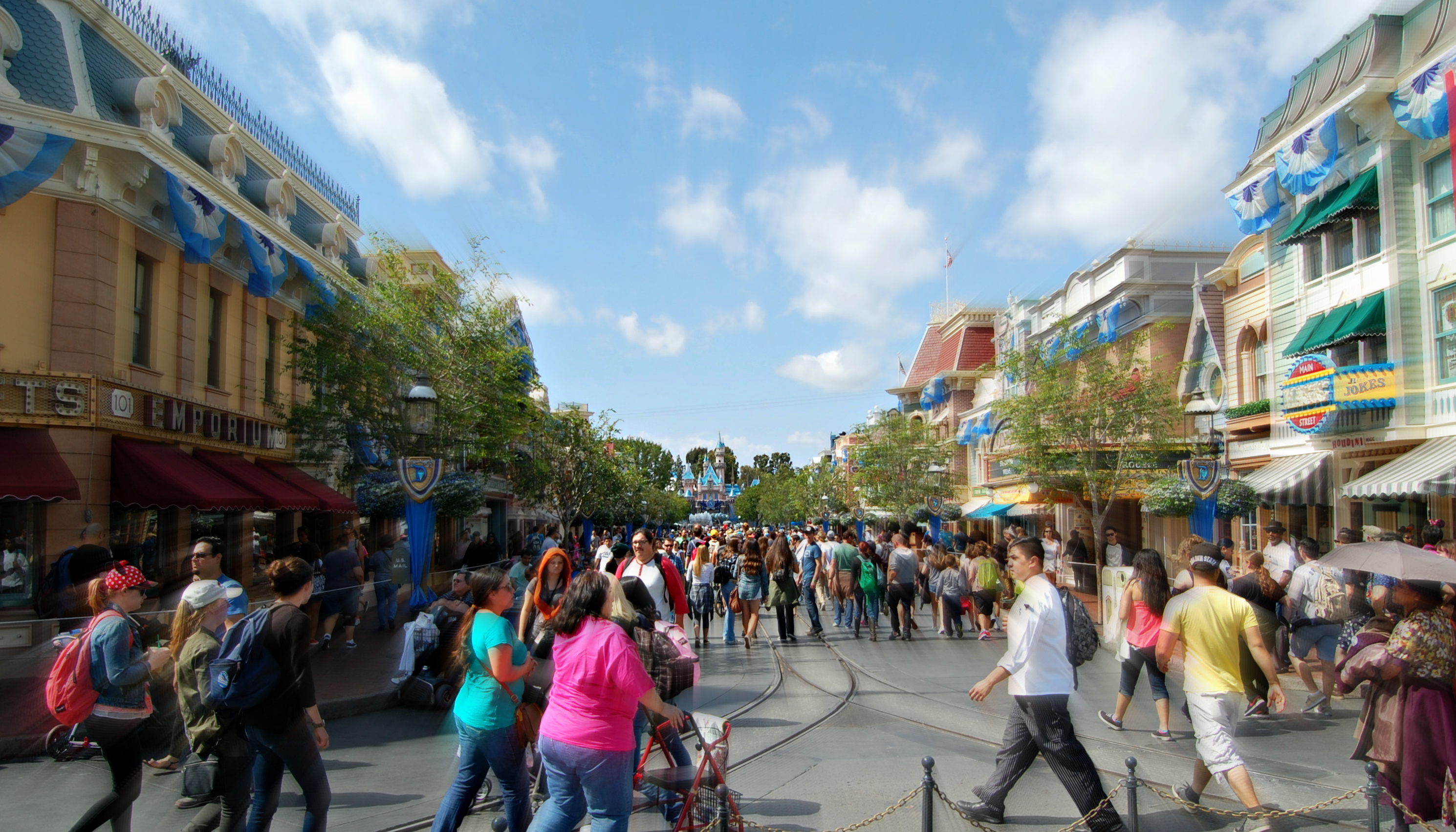 Disneyland's version of Main Street, U.S.A.