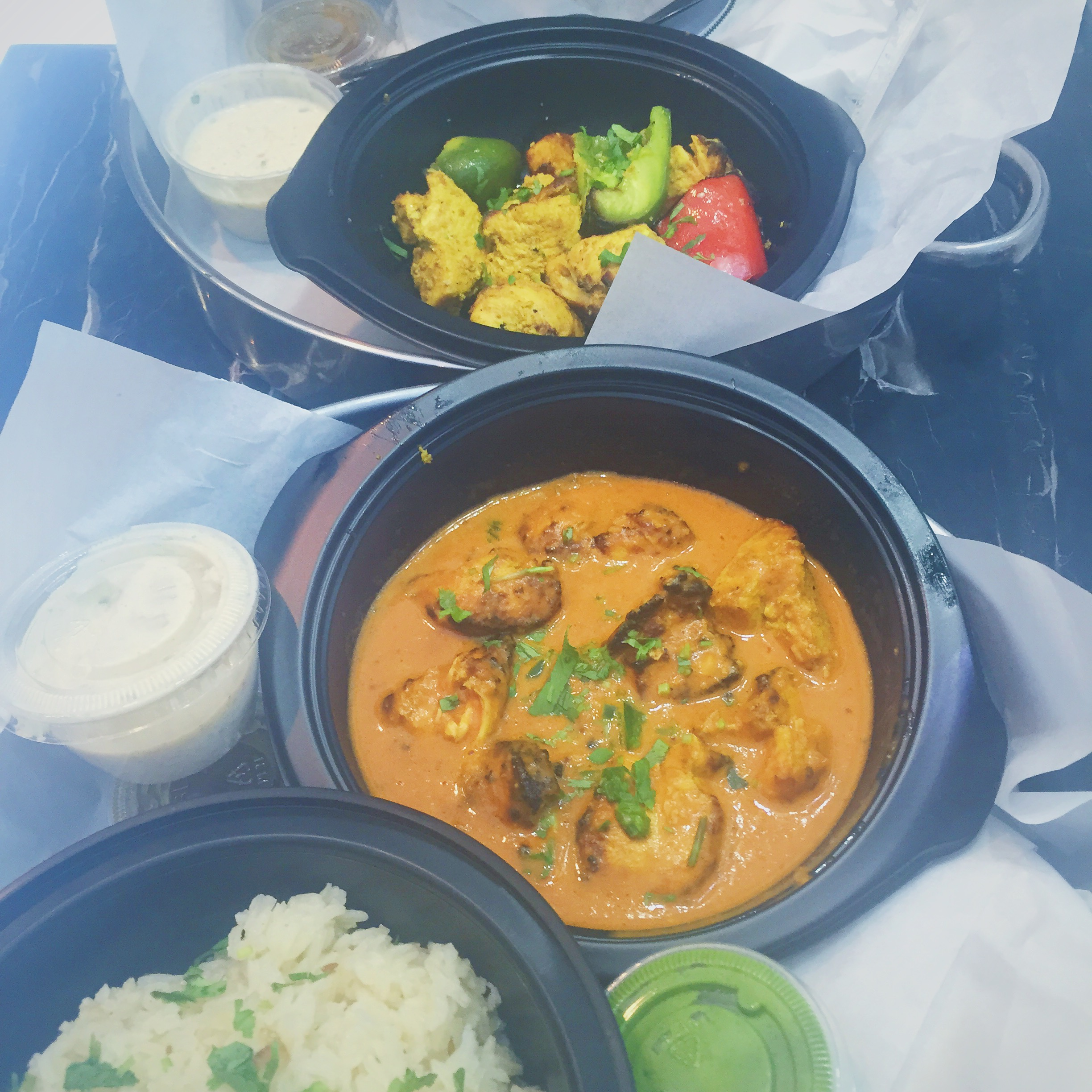 Indian takeout food from Grand Trunk DC
