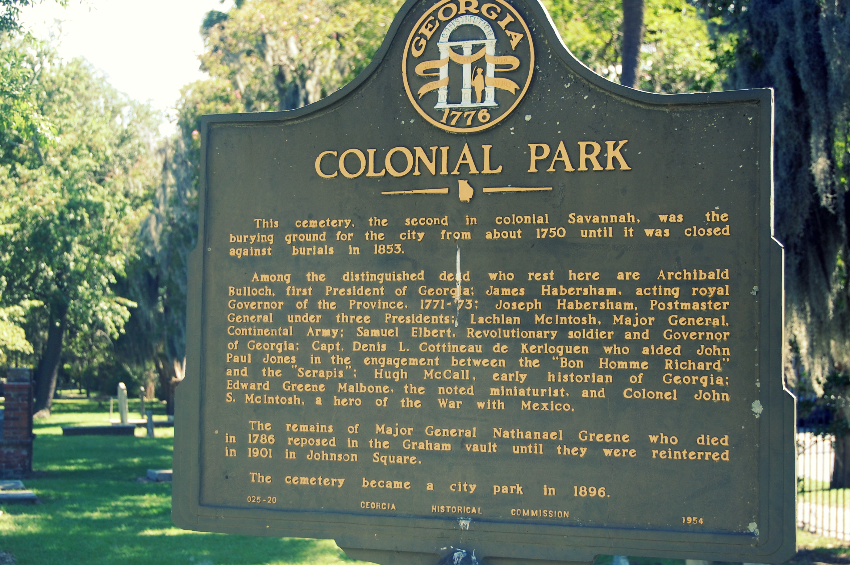 Colonial Park Cemetary, Savannah, GA