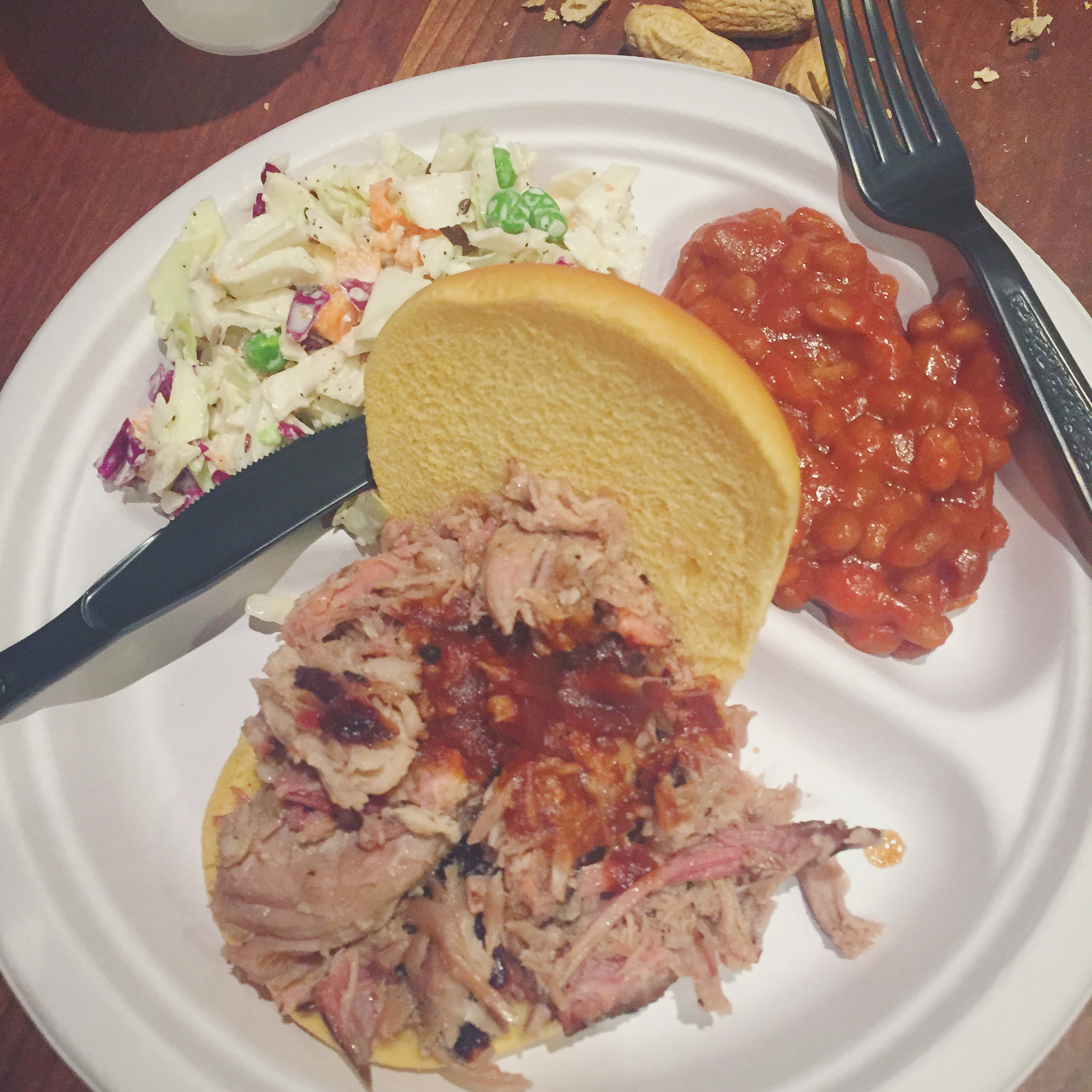 pulled pork sandwich, Rockland's BBQ, Washington, DC