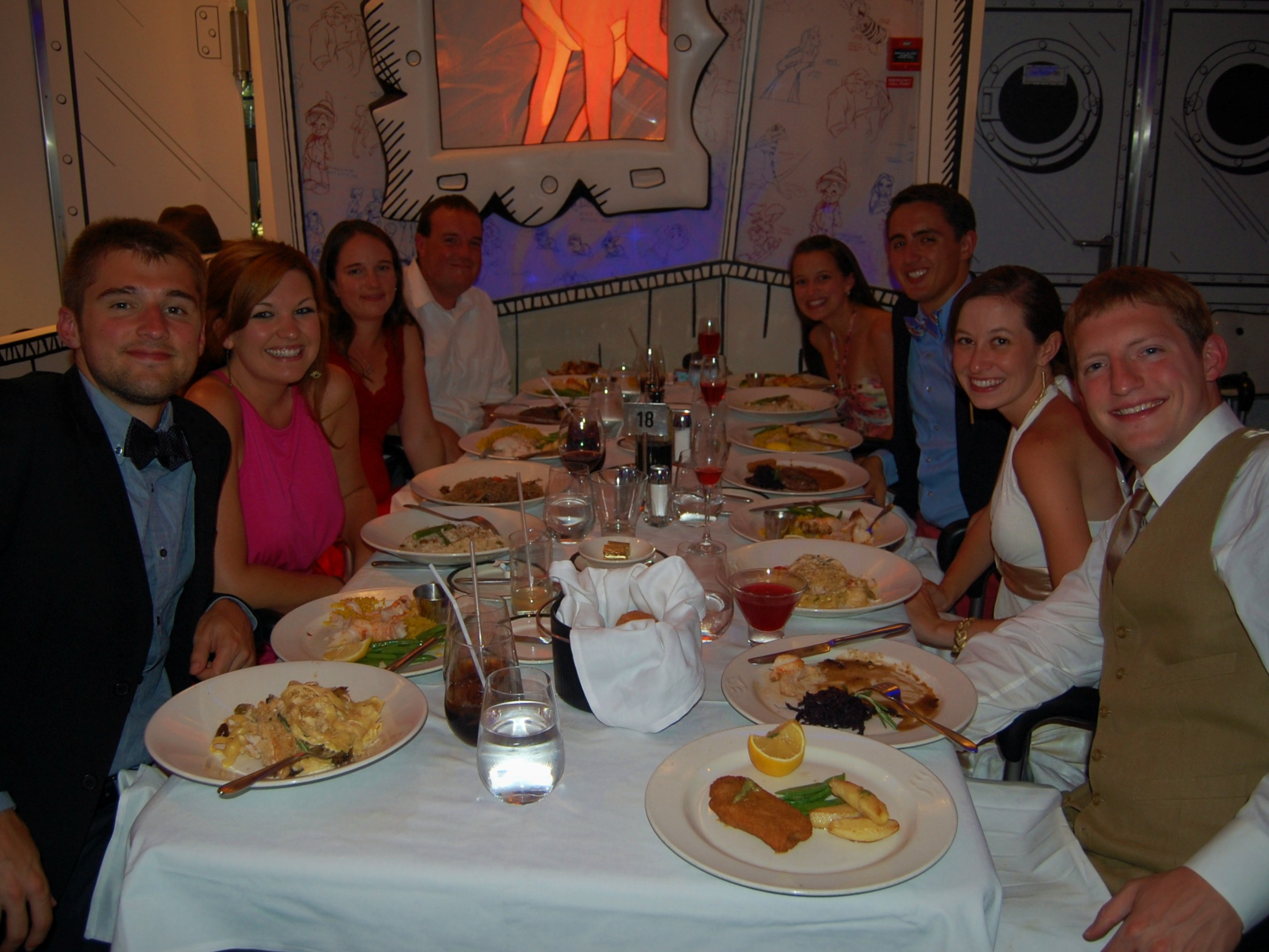 Disney Magic seated dinner group